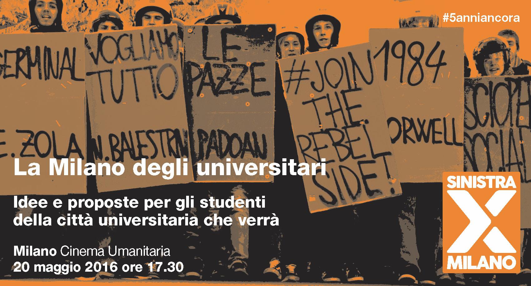 La Milano degli universitari